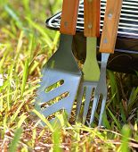 Closeup barbecue tools