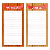 shopping and to do list template