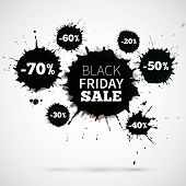 pic of friday  - Abstract Vector Illustration Black Friday Sale for your business artwork - JPG
