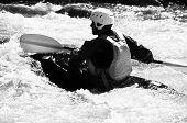 Kayaking B&W