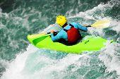 Kayaking, extreme waterfall