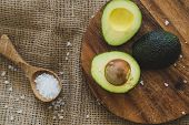 Delicious avocado on the board