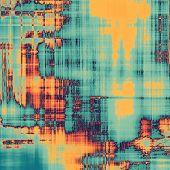 Grunge retro vintage texture background. With yellow, orange, violet, blue patterns