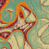 Retro background with grunge texture. With brown, orange, green, gray patterns