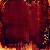 Background with grunge stains. With brown, red, orange patterns