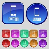 picture of qwerty  - Computer keyboard and smatphone Icon - JPG