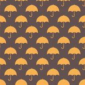 Vintage Seamless Pattern With Umbrellas