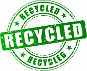 Recycled Green Stamp Icon
