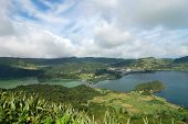 View On The Lake Of Sete Citades In The Azores Islands