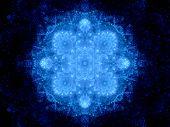 Blue Glowing Snowflake