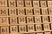 Educational Wooden Multiplication Table