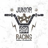 Emblem Motorcycle  Racing Junior
