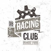 Emblem Racing Club In Retro Style