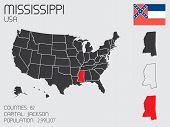Set Of Infographic Elements For The State Of Mississippi