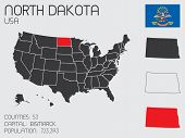 Set Of Infographic Elements For The State Of North Dakota