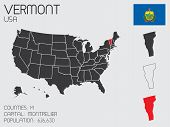 Set Of Infographic Elements For The State Of Vermont