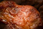 Close up Tasty Half Cooked Tender Juicy Meat