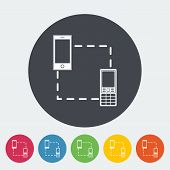 Phone sync single icon.