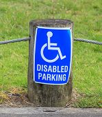 A Disabled Parking Only Sign On The Street Side, For Providing Close Access Door.