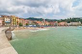 San Terenzo Beach And Town In Lerici, Italy
