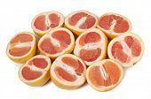 Ripe yellow grapefruit on a white background