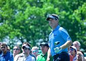 Farmingdale, Ny - June 15: Englishman Lee Westwood Watches His Tee Shot On The 6Th Hole At The 2009