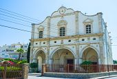 picture of larnaca  - Our Lady of Graces Catholic Church located in the old neighborhood on Terra Santa Street in Larnaca Cyprus - JPG