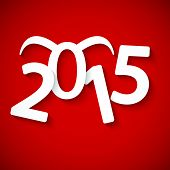 Paper 2015 Year with horn