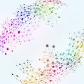 Technology Network Multicolor Background