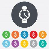 Wrist Watch sign icon. Mechanical clock symbol.