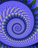 Quilted spiral