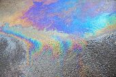 Abstract Pattern Of An Oil Or Petrol Slick