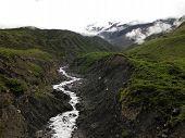 Himalayan River With Glacier