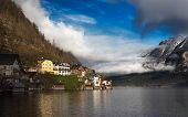 Clouds at Lake Hallstatt, Salzkammergut, Austrian Alps