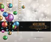Christmas original modern background template for invitations, seasonal cards, event posters, new year backgronds and so on.