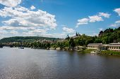 View of Vltava river in Prague