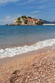 The Beautiful Island Of Sveti Stefan In Budva Riviera