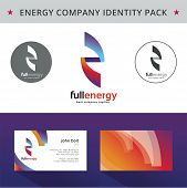 Abstract energy identity pack vector concept. Good for company branding set.