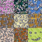 Set Of Sprockets Seamless Generated Textures