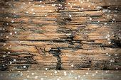 Snowy Wooden Background
