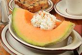 Cantaloupe With Raisin Toast