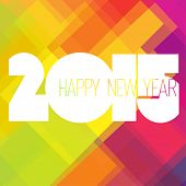 2015 Happy New Year Colorful Design Vector