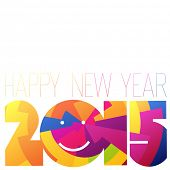 Happy New Year 2015 Colorful Design