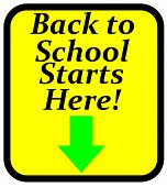 school starts here sign
