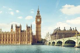 stock photo of british culture  - Big Ben in sunny day - JPG
