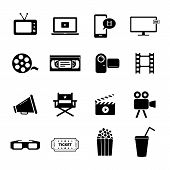 picture of movie theater  - Collection of several icons related to video recording - JPG