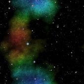 picture of nebula  - Amazing illustraton of space with stars and colorful nebula - JPG