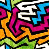 pic of graffiti  - colored graffiti seamless texture with grunge effect - JPG