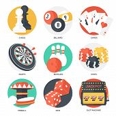 pic of dice  - Casino Sport and Leisure Games Icons  - JPG