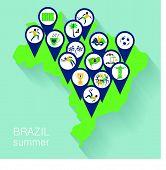 picture of brazilian carnival  - Illustration of traditional Brazilian items - JPG